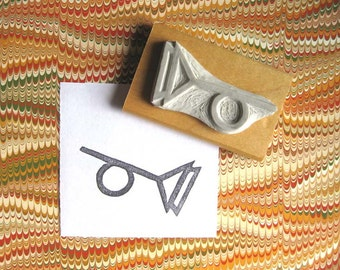 Tristero Symbol / Muted Horn - Hand-Carved Stamp