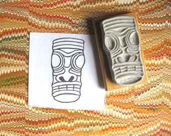 Tiki Face - Hand-Carved Stamp