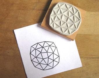 Crystal Configuration 05 - Hand Carved Stamp