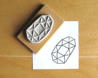 Crystal Configuration 12 - Hand Carved Stamp