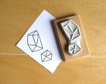 Crystal Configuration 14 - Hand Carved Stamp
