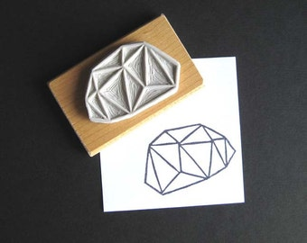 Crystal Configuration 19 - Hand Carved Stamp