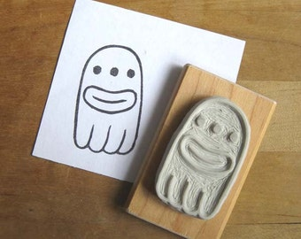 Alien Ghost - Hand Carved Stamp
