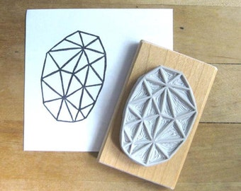 Crystal Configuration 34 - Hand Carved Stamp
