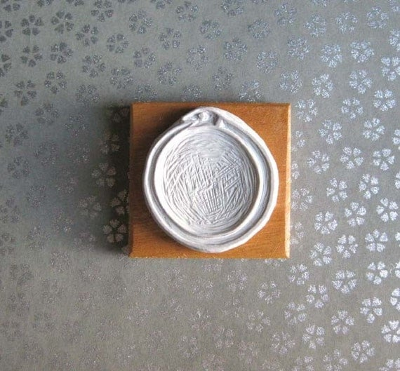 Ouroboros - Hand-Carved Stamp