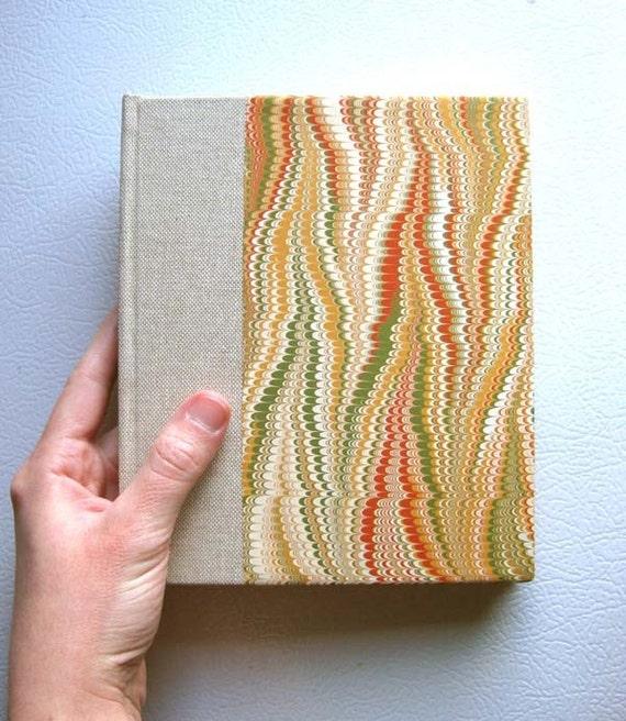 Natural Marbled Handbound Sketchbook / Notebook