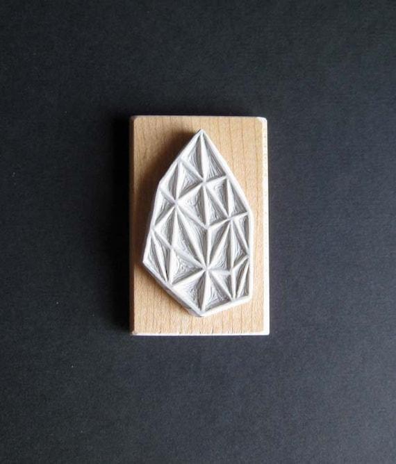 Crystal Configuration 21 - Hand Carved Stamp