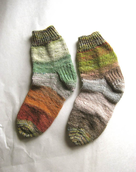 Nature Girl - Hand Knit Socks Women's Size 8 - 8.5