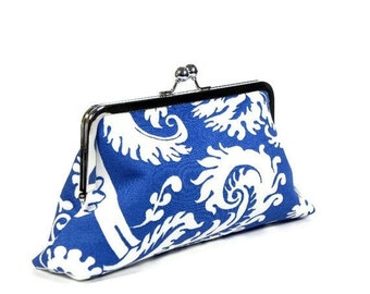 SELBY - Bridesmaid Clutch - SWD Classic Day Clutch - Peacock Blue