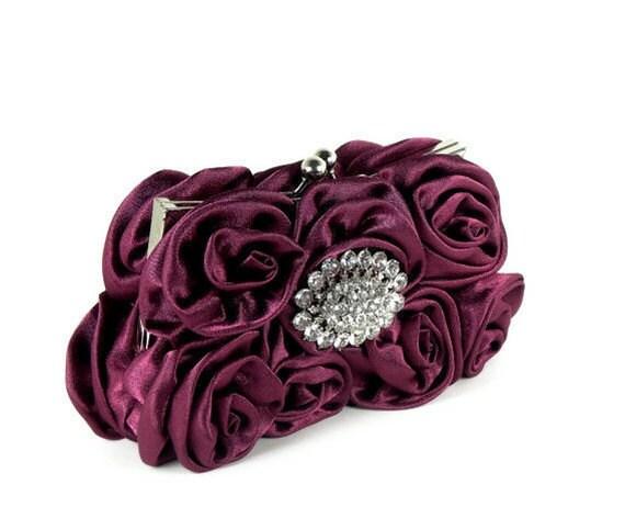 Evening Bag Clutch Burgundy, Evening Clutch Bags, Evening Bags, Bridesmaids Clutch, Wedding Accessories