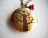 Happy Little Tree Charm Locket Necklace