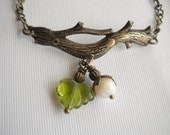 Mossy Twig Bracelet in Antiqued Brass
