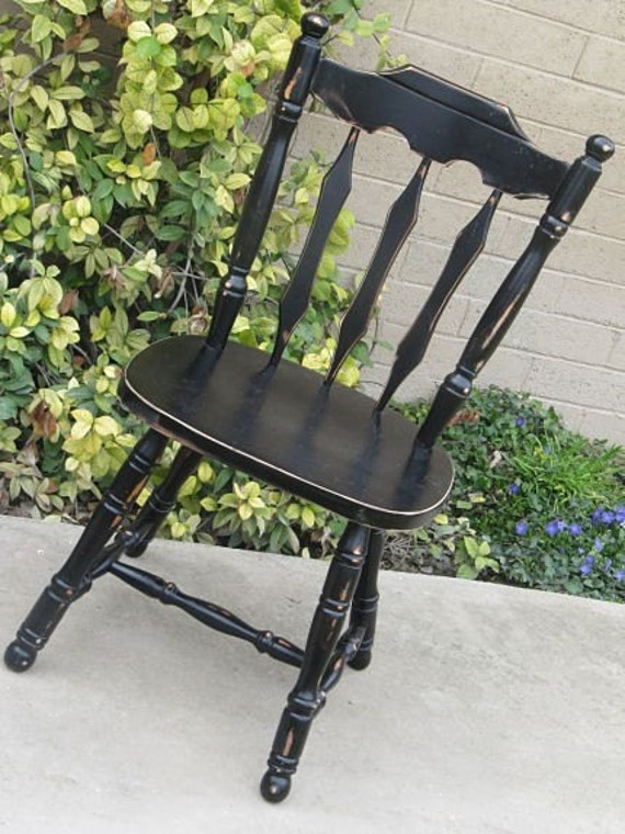 Vintage Farmhouse Style Chair Handpainted in a Classic