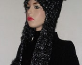 Reserved for Jeannie-Pom Pom Earflap Hat-this item IN STOCK ONLY-50% off until 9/15/11-now only 20.00