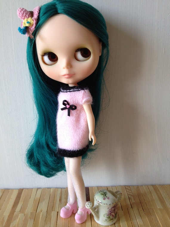 Pink and Black Dress for Blythe Doll
