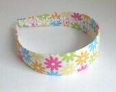 Preppy Fabric Headband, Colorful Daisy Flower Headband, Fits Young Girls Thru Adults, Wide Headband by Pink Lemonade Duxbury
