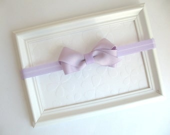Baby Girl Headband, Pastel Lavender Bow Headband, Baby Headband, For Newborns, Infants, Baby Girls, Young Girls, Simple Headband