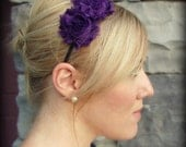 Shabby Chic Headband in Dark Violet Purple for Adults and Girls