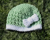 Sale 5.  00 Green Bow hat photo prop ready to ship clearance stock reduction