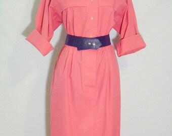 Vintage 1970s Pink Willi of California Dress
