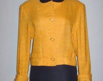 Vintage Gold Cropped Blazer
