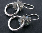 Two sterling silver and labradorite earrings reserved for Andrea