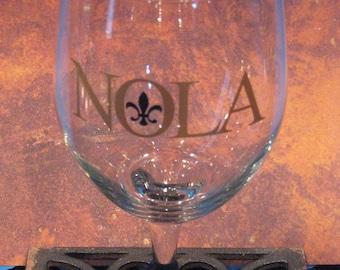 NOLA  Fleur de Lis Wine Glass - 19 oz