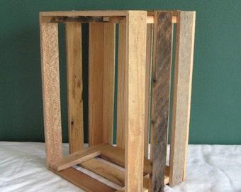 Rustic Barnwood DVD Crate