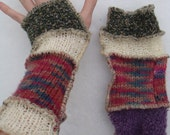 Upcycled sweater arm warmers/ fairy bracers/ goblin OOAK