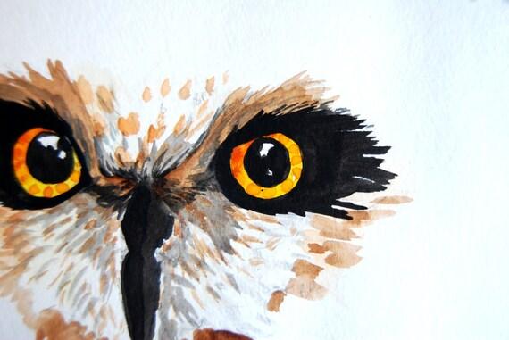 Owl Eyes Paintings ... Fiber Arts Glass A...