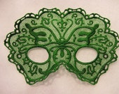 Green Goddess Lace Mask