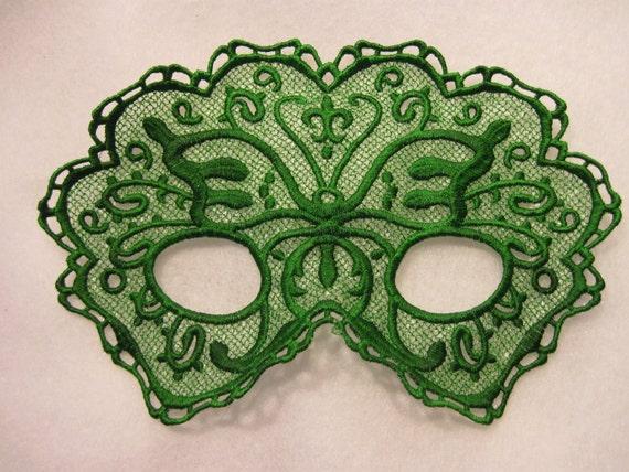 Green Goddess Lace Mask