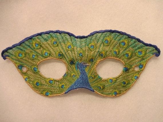 Peacock Lace Mask
