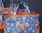Custom Monogrammed Quilted Purse/Tote Blue Orange Fl. Gators Denver Broncos