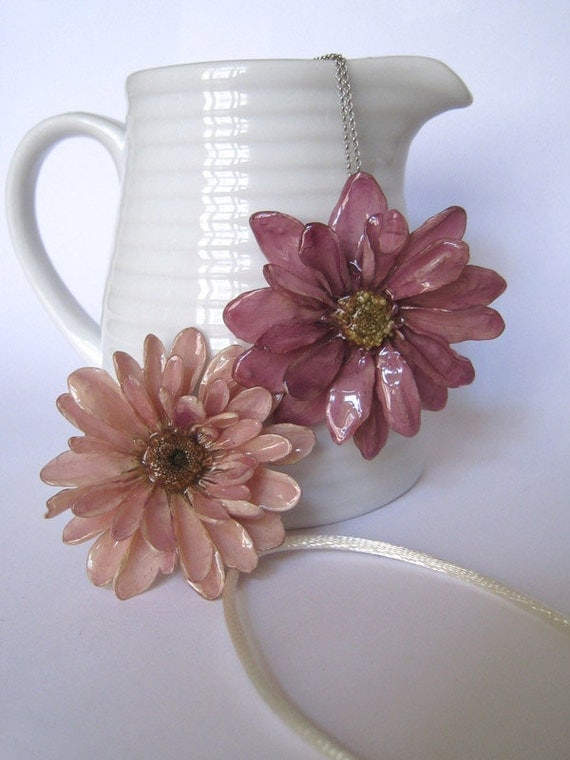purple aster necklace