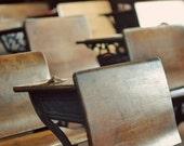 Classroom 5x5 Modern Photograph - vintage school room chairs