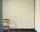 Still Life Photo, Corner, 5x5 Print, Minimal, Chair Photo, Neutral Colors, White, Beige