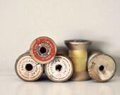 Still Life Photography, American Thread, Sewing, Craft Room Photograph, Vintage Thread, Minimal, Beige