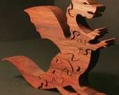 Standing Dragon Wooden 3-D Puzzle