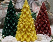 Beeswax Holly Berry Christmas Tree Candle Choice Of Color
