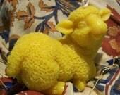 Beeswax Happy Lamb Sheep Candle