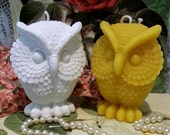 Beeswax White Owl Candle