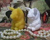 2 Beeswax Happy Little Pig Candles