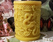 Beeswax Dragon Pillar Candle
