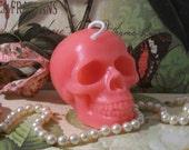 Beeswax Pink Skull Candle dia de los Muertos
