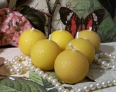 Golf Ball Candles Beeswax Set of 6