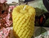 Beeswax Sunflower Daisy Pillar Candle