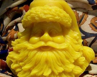 Beeswax Santa St. Nick Santa Clause Bust Candle