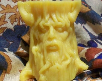 Beeswax Green Man Spirit Of The Tree Greenman Candle Small