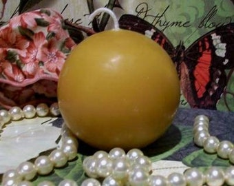 2 Beeswax Ball Candles